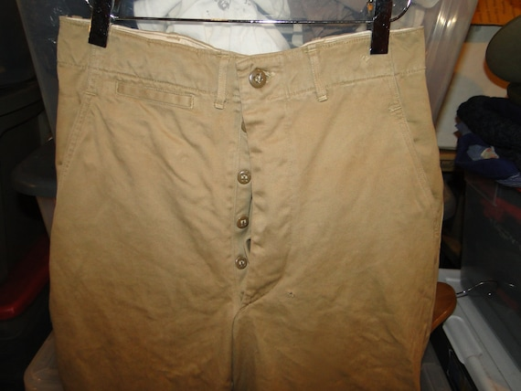 Vintage  US Military Uniform Trousers Chino pant B