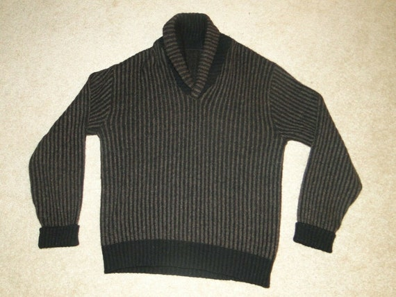 VINTAGE SHAWL COLLAR Sweater Sz.M- L