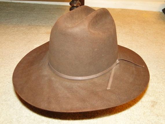 Vintage STETSON Brown Fedora Hat Cowboy Western Ha