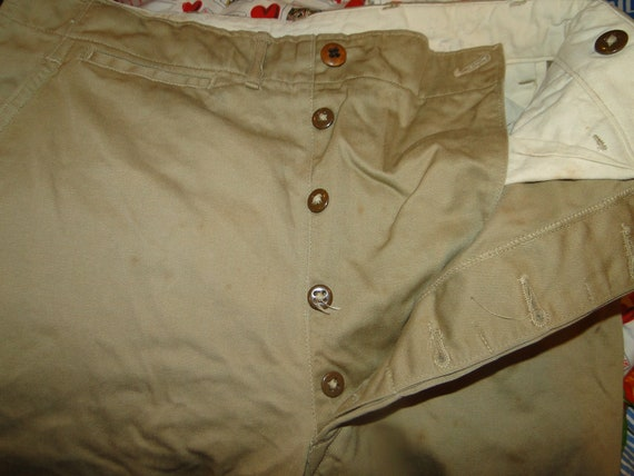 Vintage USMC US Military Uniform Trousers Chino pa