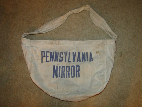 Vintage pennsylvania mirror Canvas Newspaper Deliv