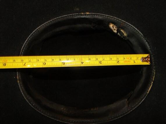Vintage Black Fedora Hat Cowboy Western Hat Sz 6 - image 5