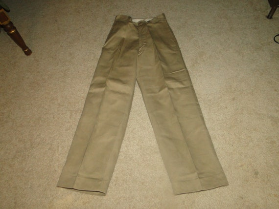 Vintage US Military Uniform Trousers Chino pant zi