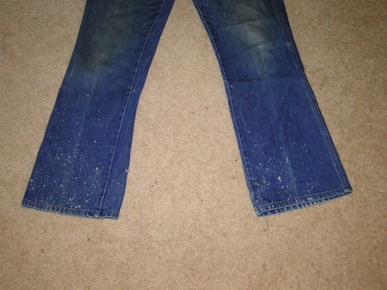 VINTAGE ORIGINAL WRANGLER Denim Jeans boot cut work pant Sz 32 X 33