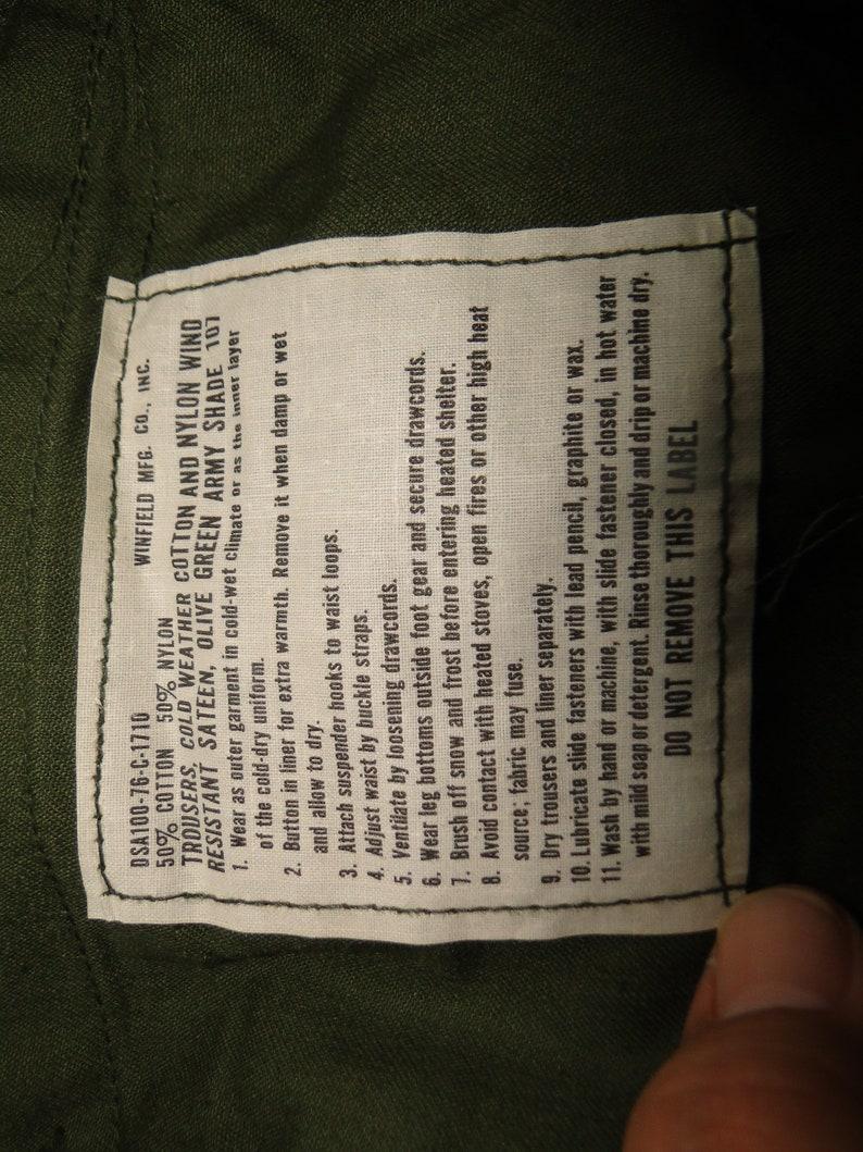 Vintage og-107 Vietnam War US Military Uniform Trousers pant BUTTON FLY 31x 33
