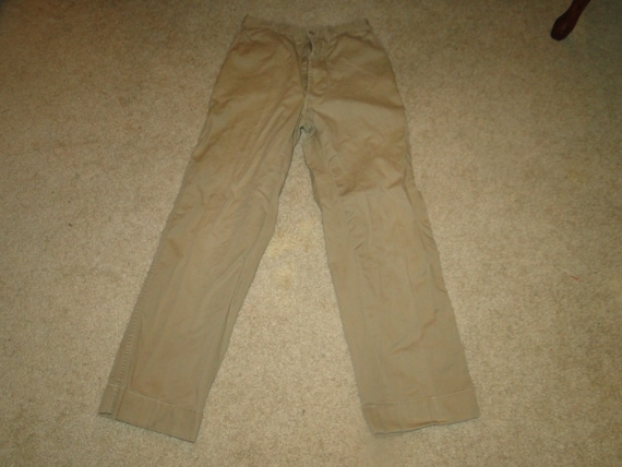 Vintage US Military usmc Uniform Trousers Chino pa