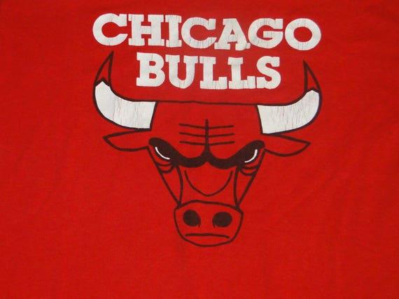 Vintage T shirt CHICAGO BULLS 80s Sz.M