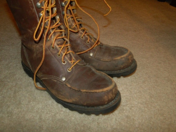 Vintage Leather Boot Engineer Motorcycle Boot size