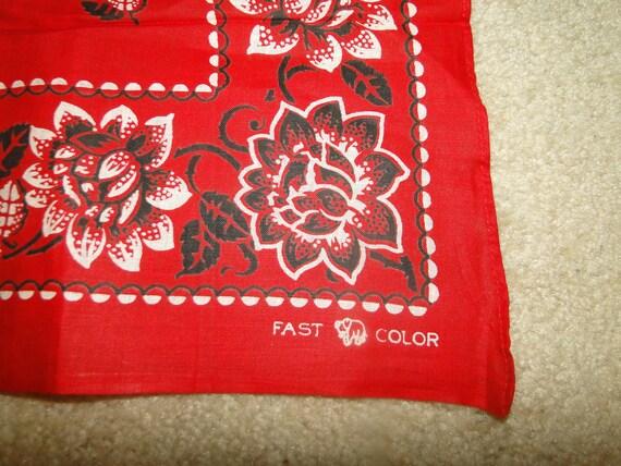 Vintage Trunk Down FAST COLOR BANDANA Handkerchief