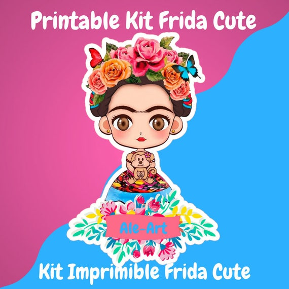 Kit Imprimible Frida Cute Descarga Instantanea Fiestas