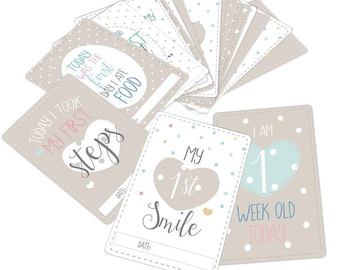 18afe2bb140 20 Baby Milestone Cards