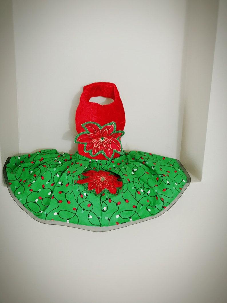 Dog Christmas Dress XS