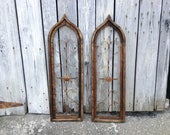 38 quot Arch Window Frame, Tuscan Decorative Window, Stained Wood