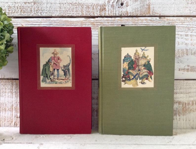 1945 Grimm's & Andersen's Fairy Tales Book Set, Illustrated, w/ Slipcase,  Vintage Book Set, Hans Christian Andersen, Brothers Grimm, Fantasy