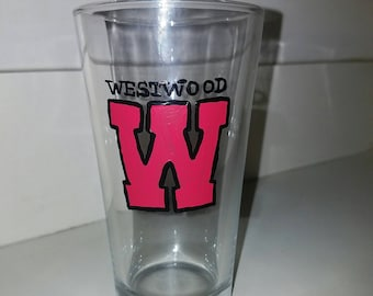 Westwood Pint Beer Glass painted by LifeofReillyDesigns