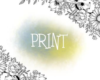 A4 PRINT - item to add to cart to receive portrait custom printed (1 left)