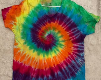 Rainbow Spiral Tie-Dye T-Shirt