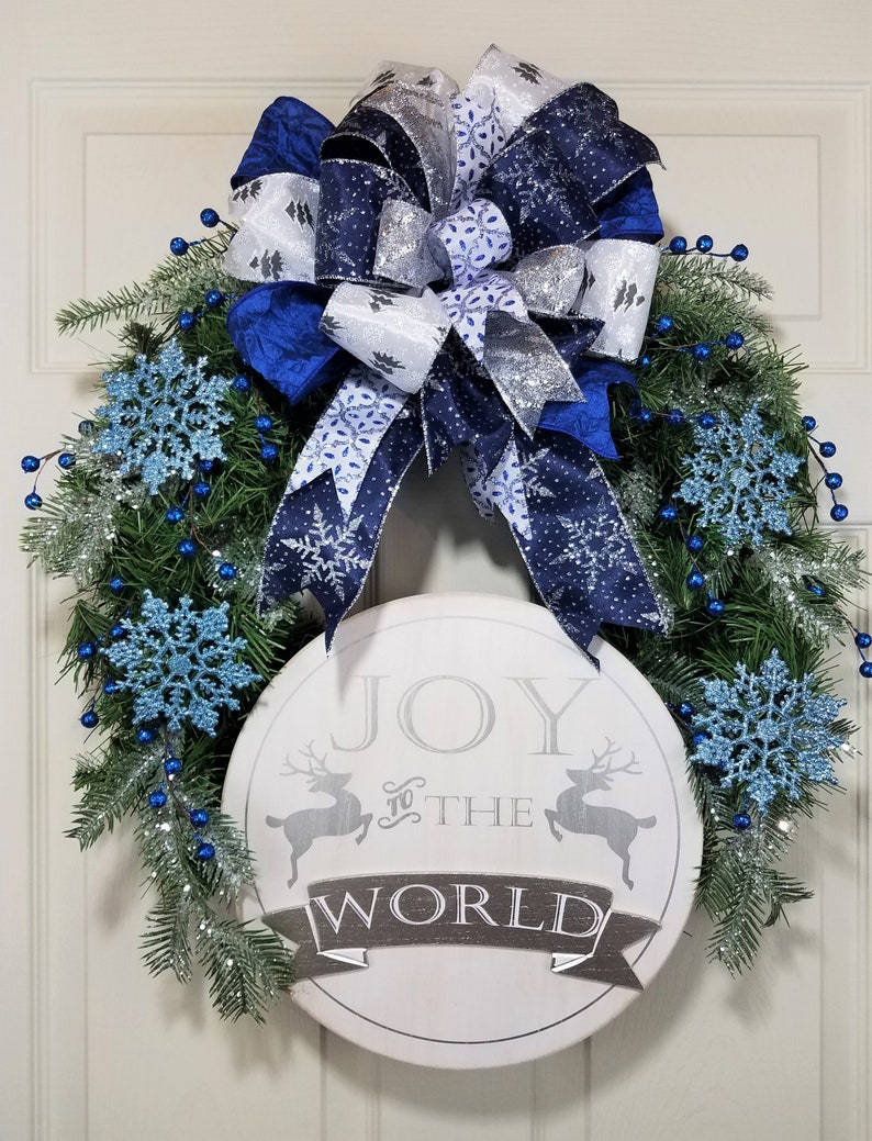 Joy to the World; Holiday Wreath; Winter Wreath; Snowflakes; Silver and Blue; Welcome Wreath;
