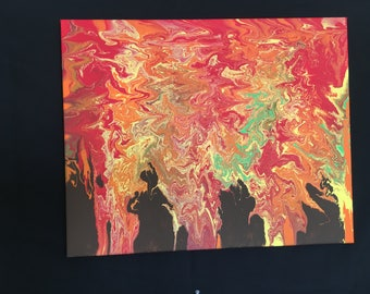Fall Trees Abstract Painting