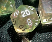 Feywild Polyhedral Dice for RPG Games like Dungeons and Dragons and Pathfinder. DnD Gifts RPG Gift