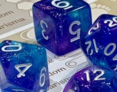 Mystic Sparkle Polyhedral Dice for RPG Games like Dungeons and Dragons and Pathfinder. DnD Gifts RPG Gift