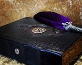 A5 BOS Book of Shadows Spell Book Grimoire Tome Notebook Journal with deckled parchment Dungeons and Dragons