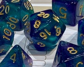 Spellbound Polyhedral Dice for RPG Games like Dungeons and Dragons and Pathfinder. DnD Gifts RPG Gift