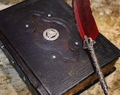 A5 Viking Valknut Tome Book of Shadows BOS Notebook Journal Diary  with deckled parchment Dungeons and Dragons and witchcraft