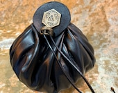 Dungeons and Dragons Large Genuine Real Luxury Leather Dice Bag DnD Dicebag Coin Pouch LARP Bag for DnD Gifts RPG Props larping Gift