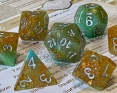 Leprechaun Wish Polyhedral Dice for RPG Games like Dungeons and Dragons and Pathfinder. DnD Gifts RPG Gift