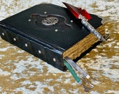 A5 Celtic Trinity Knot Tome Book of Shadows BOS Notebook Journal with Deckled Parchment Dungeons and Dragons and witchcraft