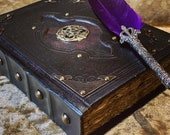 A5 Celtic old Tome Book of Shadows Blank Notebook Journal Diary with deckled parchment Dungeons and Dragons