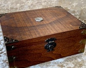 Chest Dungeons and Dragons Chest with metal D20 RPG box and DnD Dice Box