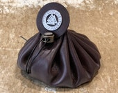Dungeons and Dragons Vikings Valknut Large Genuine Real Luxury Leather Dice Bag DnD Dice bags Coin Pouch LARP Bag for DnD Gifts RPG Gift.