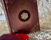 Notebook Journal for Dungeons and Dragons D20 Embossed Foil Shimmer Metallic for Dnd and Pathfinder Notes