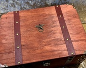 Chest Dungeons and Dragons Chest with metal Dragon RPG box and DnD Dice Box