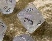 Pearl of Power Polyhedral Dice for RPG Games like Dungeons and Dragons and Pathfinder. DnD Gifts RPG Gift