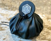 Dice Bag Dungeons and Dragons Dark Green Leather Regular Dice Bag DnD Dicebag Coin Pouch LARP Bag for DnD Gifts RPG Gift Props larping