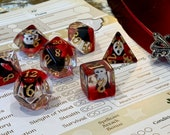 Scream blood Polyhedral Dice for RPG Games like Dungeons and Dragons and Pathfinder. DnD Gifts RPG Gift