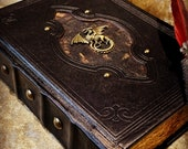 A5 Dragon old antique Tome Book Notebook Journal Diary with deckled parchment Dungeons and Dragons