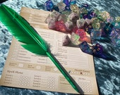 Feather Pen for RPG Games like Dungeons and Dragons and Pathfinder. DnD Gifts RPG Gift