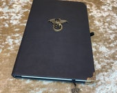 A5 Notebook Journal for Dungeons and Dragons Vegan Leather Matte Black Dragon for Dnd and Pathfinder Notes