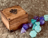 Dungeons and Dragons Tiny Solid Wood Dice Chest box (DnD Mini Box)