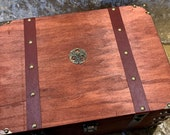 Chest Dungeons and Dragons Chest with metal Celtic Knot Wicca RPG box and DnD Dice Box