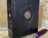 A5 BOS Book of Shadows Spell Book old antique Grimoire Tome Notebook Journal with deckled parchment Dungeons and Dragons