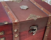 Chest Dungeons and Dragons Chest with metal D20 Crit Coin Trinket box and DnD Dice Box