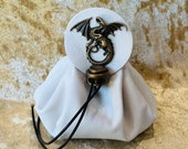 Dice Bag Dungeons and Dragons Leather Regular Dice Bag DnD Dicebag Coin Pouch LARP Bag for DnD Gifts RPG Gift Props larping