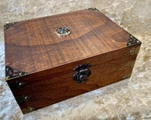 Chest Dungeons and Dragons Chest with metal Celtic Knot RPG box and DnD Dice Box