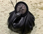 Dice Bag Pentacle Wicca Dungeons and Dragons Leather Regular - DnD Dicebag Coin Pouch LARP Bag Dungeon Gifts RPG Gift Props