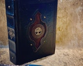 A5 Tree of Life old Tome Book Grimoire Blank Notebook Journal Diary with deckled parchment Dungeons and Dragons